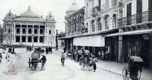 프랑스 식민지 시기 하노이. [위키피디아]
