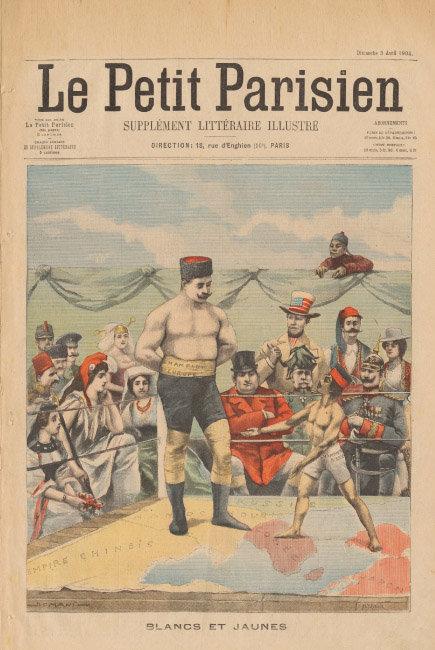 '르 프티 파리지앵'에 실린 러일전쟁 풍자삽화.