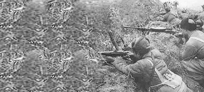 삼각고지 전투에 참전한 중국 인민지원군.