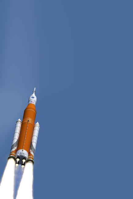 나사의 SLS 프로젝트를 표현한 그림. [위키피디아]