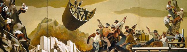 윌리엄 그로퍼, '댐 공사', 1939.