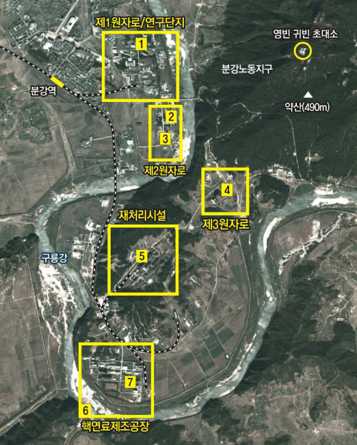 북한 영변의 주요 핵시설. [동아DB]