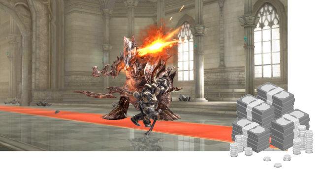 한 모바일 게임 화면.