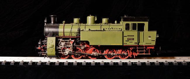 독일 BR97501 모형. 산악 지형을 다니는 기차다.