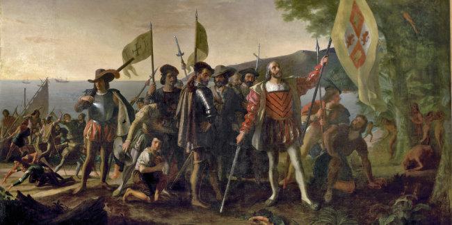 크리스토퍼 콜럼버스는 1492년 아메리카 대륙에 처음 도착했다.