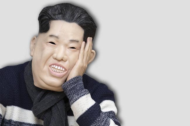 김정은 북한 국무위원장 가면을 쓰고 인터뷰하는 Mr. Q [김형우 기자]