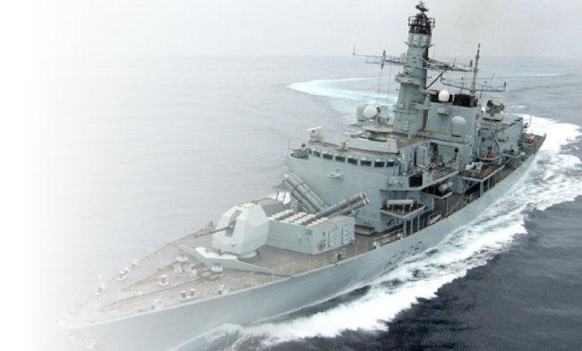 대북 해상 제재에 나서는 호위함 영국 몬트로스호.