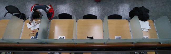 서울의 한 대학도서관 모습. [동아DB]