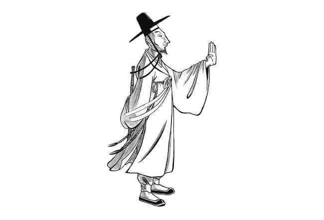 휴머니스트 출판사가 펴낸 책 '우리 고전 캐릭터의 모든 것'에 실린 전우치 삽화. [휴머니스트 제공]