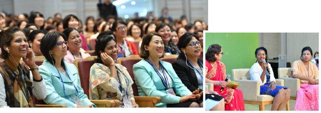 4월 28일 행복한 교회 국제콘퍼런스에서 여러 나라 참가자들이 행복한 교회를 위한 방안을 논의하며 소통과 화합의 중요성에 대해 공감했다.