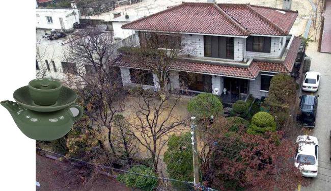 계영배(왼쪽)와 박근혜 전 대통령의 서울 강남구 삼성동 옛 자택. [동아DB]