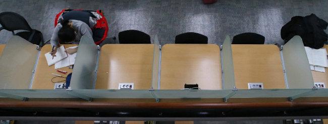 서울의 한 대학 도서관 풍경. [동아DB]