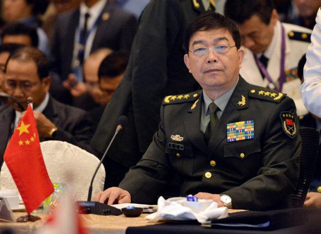 2015년 11월 4일 한민구 당시 국방부 장관은 창완첸(사진) 중국 국방부장 면전에서 남중국해에서의 미국 지지를 밝혔다. [신화=뉴시스]