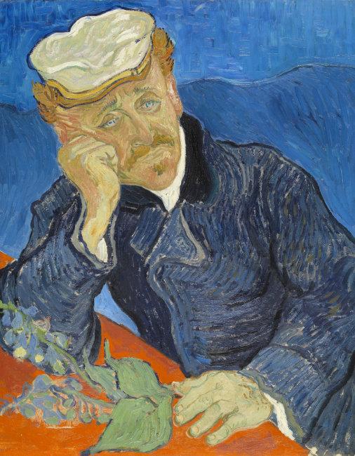 오르세미술관에 소장돼 있는 '가셰 박사의 초상' 레플리카.