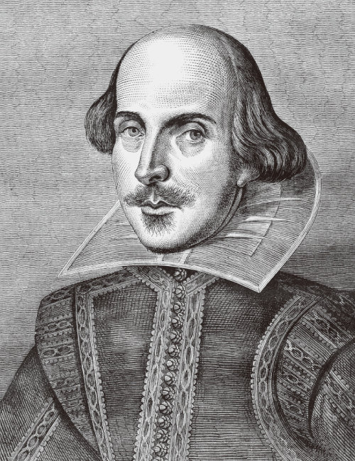 윌리엄 셰익스피어의 초상화. [shutterstock]