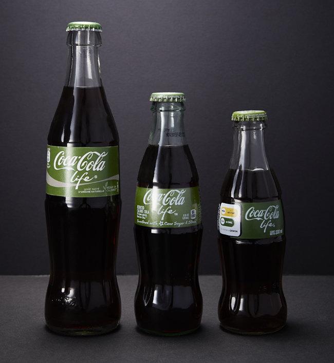 강한 계피 맛이 특징인 코카콜라 '라이프'. 우리나라에서는 판매하지 않았다.