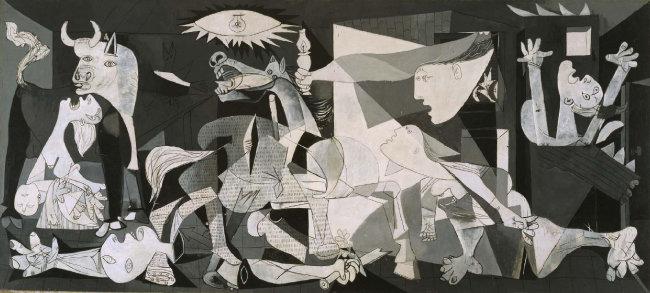 파블로 피카소, 게르니카, 1937, 유화, 국립 소피아왕비 예술센터 소장.