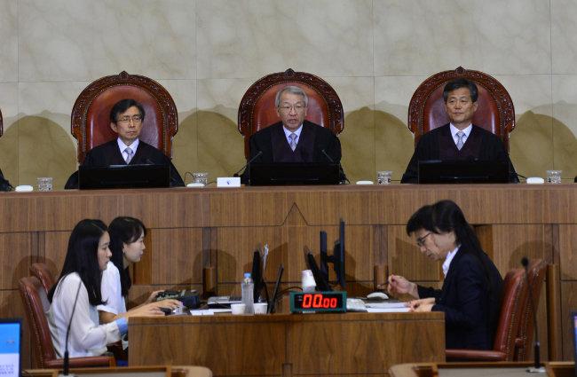 대법원은  2015년 6월 26일 유책배우자의 이혼 청구 사건에 대한 공개 변론을 열었다. 이후 유책주의를 채택한 기존 판례를 유지했다. [뉴스1]