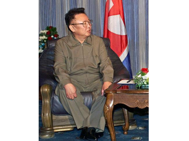 2002년의 김정일 북한 국방위원장. [뉴시스]