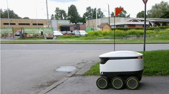 스타십 테크놀로지가 개발한 '배달 로봇'. [위키미디아]