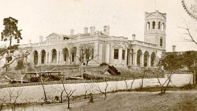 1896년 촬영된 서울 구 러시아공사관. [문화재청 제공]