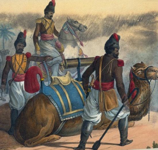 페르시아 포병대의 낙타 [위키피디아]