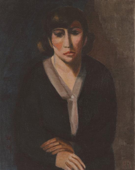 1928년 작으로 추정되는 나혜석의 자화상, 수원시립아이파크미술관 소장.
