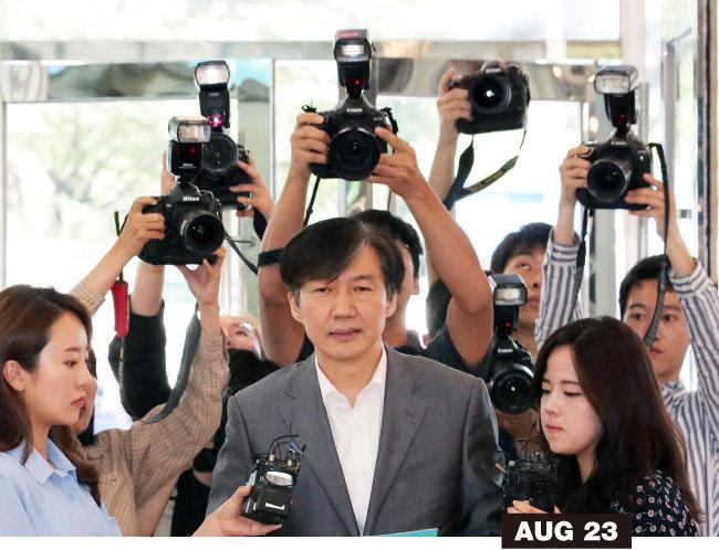8월 23일 조국 후보자는 논란이 된 사모펀드 투자금과 웅동학원을 사회에 환원하겠다고 발표했다.