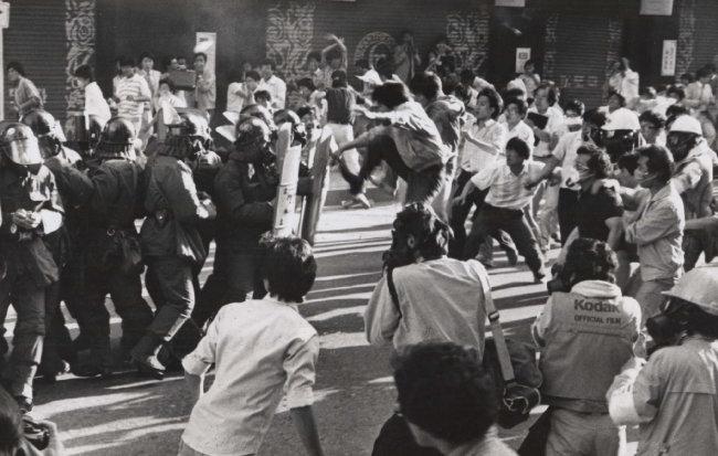 1987년 6월 1일 서울에서 열린 호헌철폐국민대회. [동아DB]