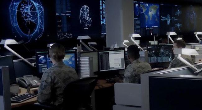 미국 공군의 사이버 안보 시설.