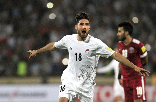 세계 랭킹 23위인 이란 축구팀은 강한 압박이 무기다. [뉴시스]