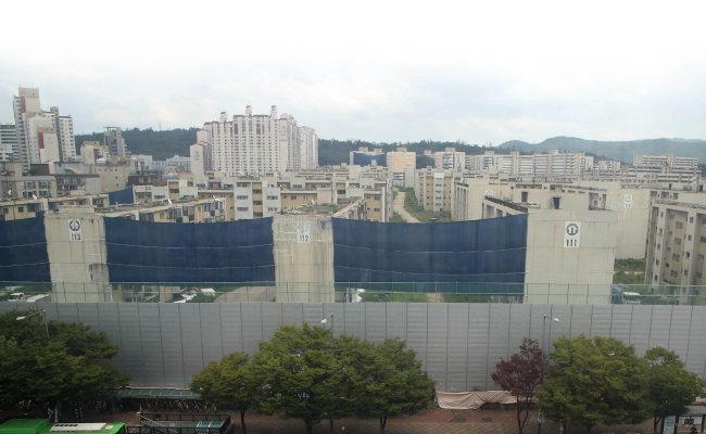 서울 강동구 둔촌주공아파트  1단지 재건축 현장. [양회성 동아일보 기자]