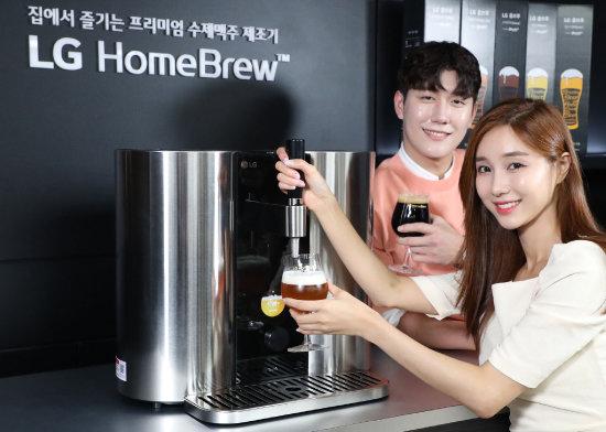 7월 16일 LG전자는 캡슐을 이용한 맥주제조기 'LG 홈브루'를 출시했다. [김재명 동아일보 기자]
