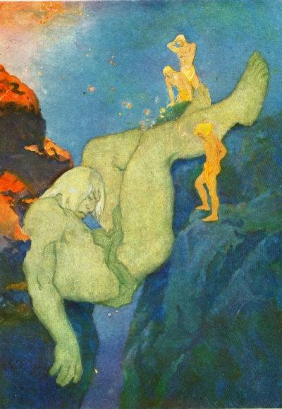 긴눙가가프에 던져지는 이미르, 캐서린 파일, 1930.