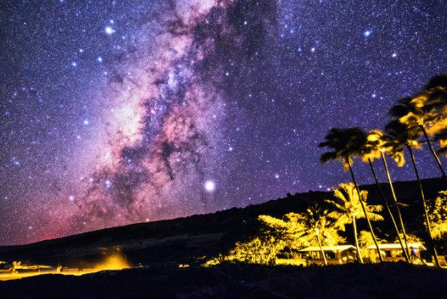하와이 빅아일랜드에서 촬영한 은하수.