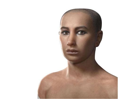 컴퓨터단층촬영(CT)을 기반으로 복원한 투탕카멘 왕의 모형. [ⓒAtelier Daynes Paris]