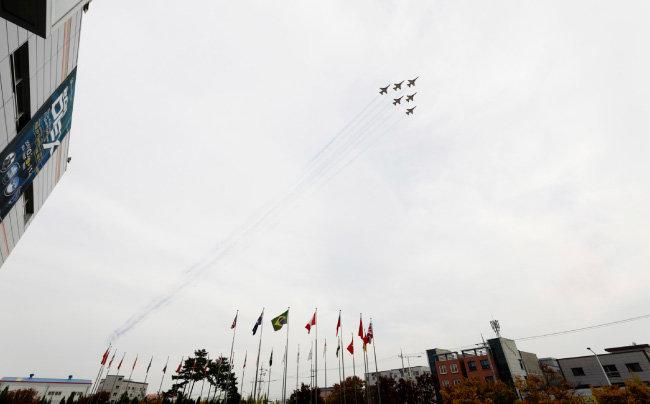 11월 2일 구미 하늘을 수놓은  '블랙이글스'의 곡예비행.
