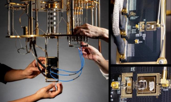 삼성카탈리스트펀드는 10월 22일 아랍에미리트의 국부펀드 운용사와 함께 미국의 양자컴퓨터 스타트업 아이온큐에 5500만 달러(약 650억 원)를 투자했다고 발표했다. 이 회사가 만든 양자컴퓨터 아이온큐(IonQ)의 내부 모습. [MS]
