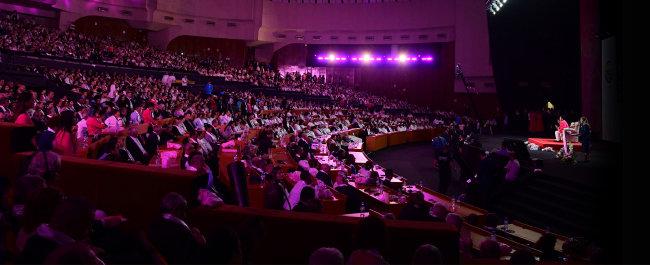 10월 27일 알바니아 티라나 의회 홀에서 열린 가정축복페스티벌