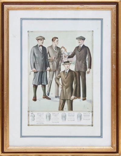 19세기 초반 유행하던 골프 복장.