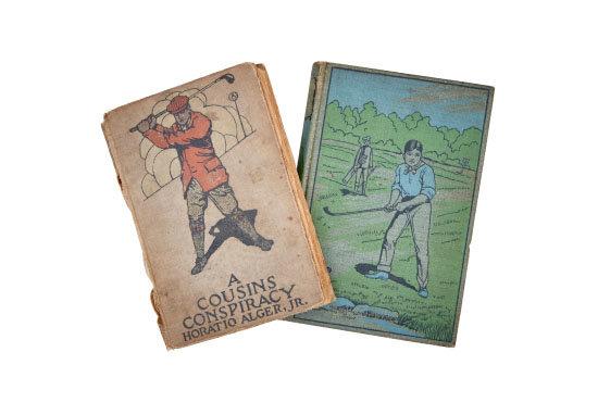 골프를 주제로 한 19세기 소설책.