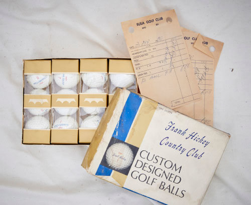 1960년대 말~1970년대 초에 사용된 골프공.