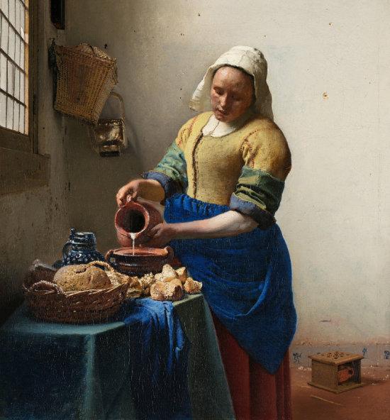 요하네스 베르메르 '우유 따르는 여인', 1660년. [네덜란드 국립미술관]