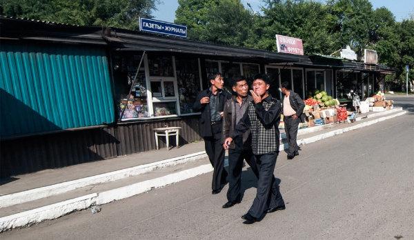 러시아 극동 지역에서 일하던 북한 노동자들. [flickr@Aleksei Zadonskii]