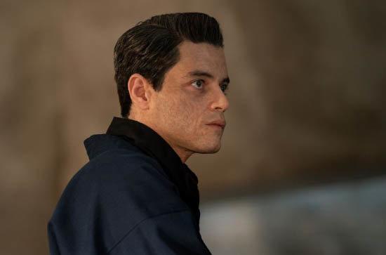 라미 말렉이 '007 노타임 투 다이'에서 '슈퍼 악당'역을 맡았다. [©MGM]