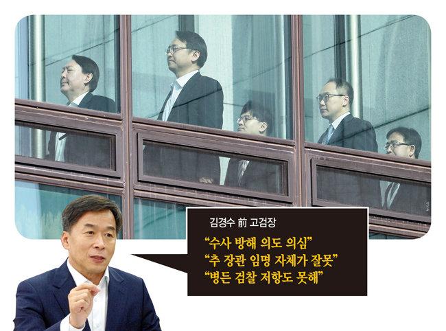 """""""文-秋 검찰 인사는 위법, 수사방해"""""""