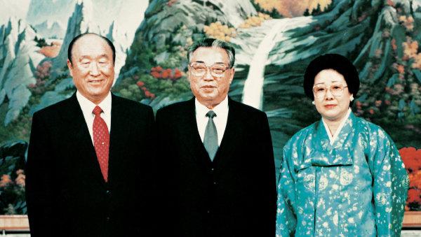 1991년 김일성 북한 주석과의 회담.