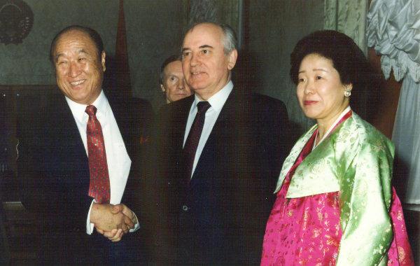1990년 미하일 고르바초프 소련 대통령과의 회담.
