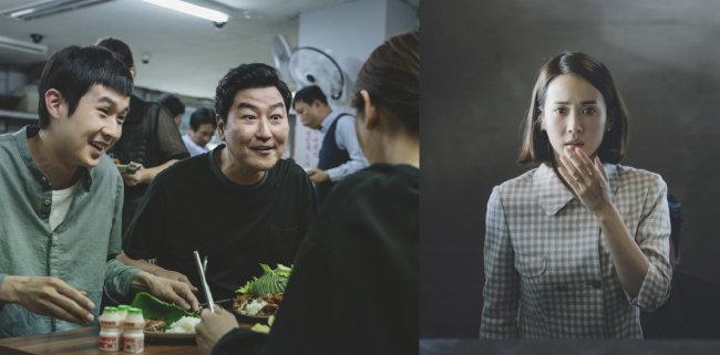 영화 '기생충'은 최우식, 송강호, 조여정 등 등장 배우의 연기 앙상블로 주목받았다(왼쪽부터). [CJ엔터테인먼트 제공]