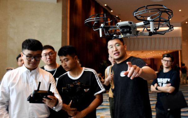 중국 DJI가 개발한 드론 '매빅 미니'. [뉴시스]